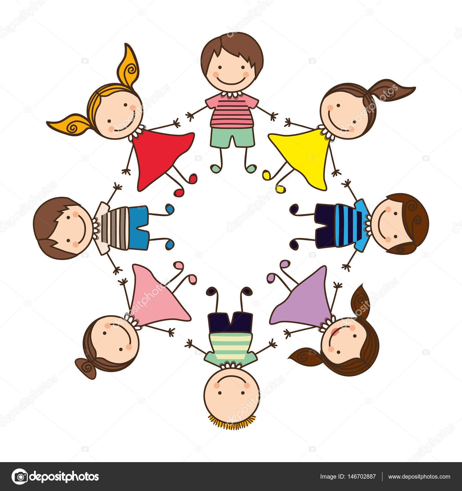 Happy children play icon — Stock Vector © grgroupstock