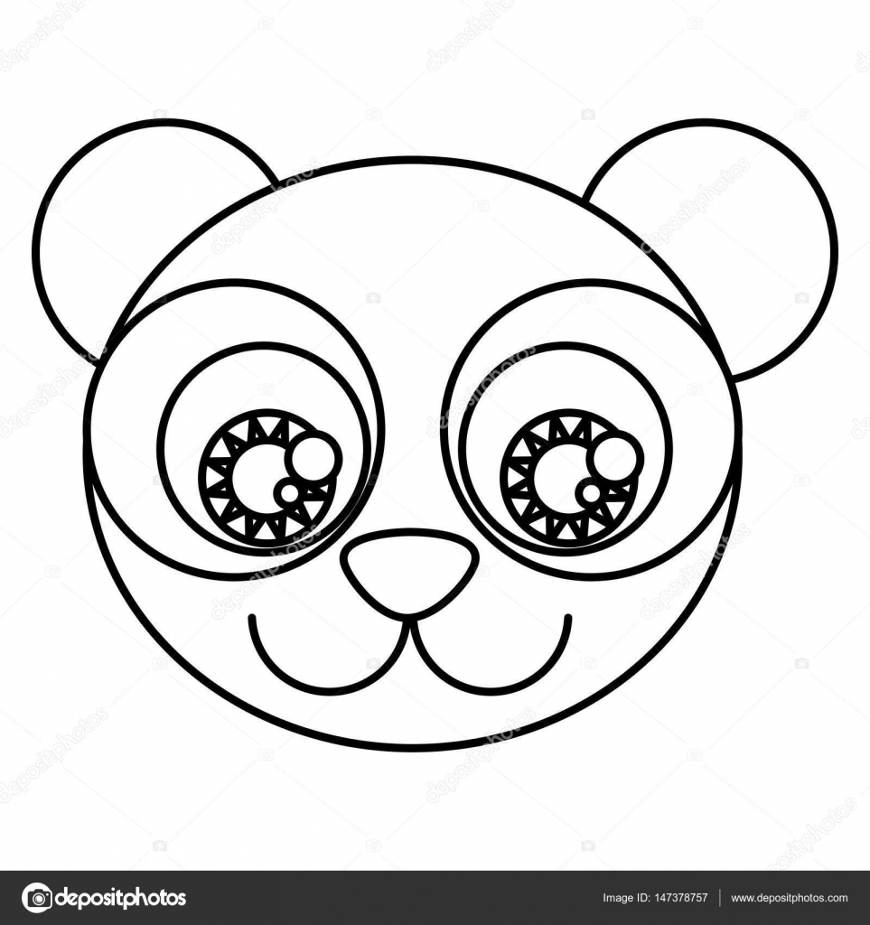 Imágenes Cara De Oso Panda Para Colorear Dibujos Animados De