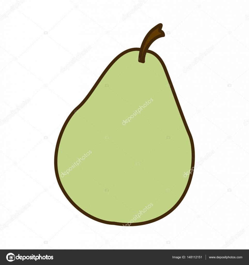 Frutas de color verde