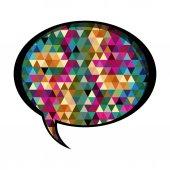 barevné oválné řeč s abstraktní pozadí
