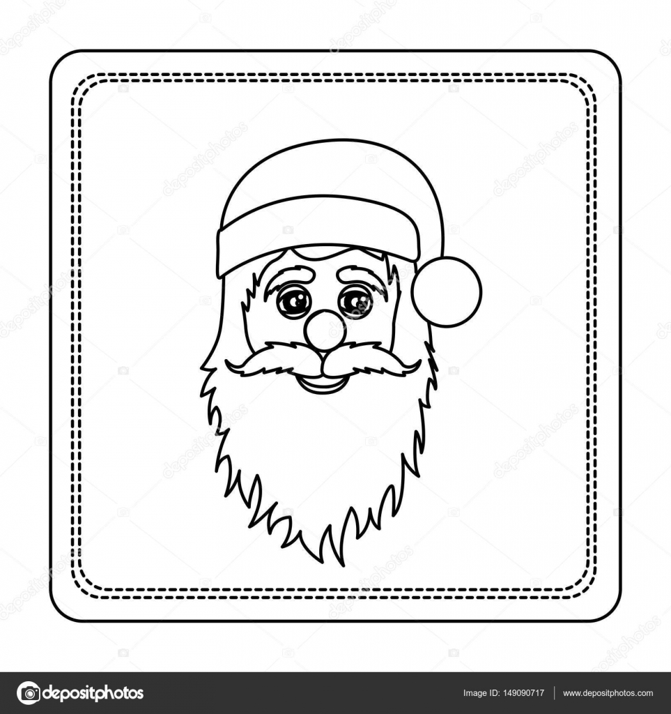 Skizzieren Sie Silhouette quadratischen Rahmen mit Weihnachten ...