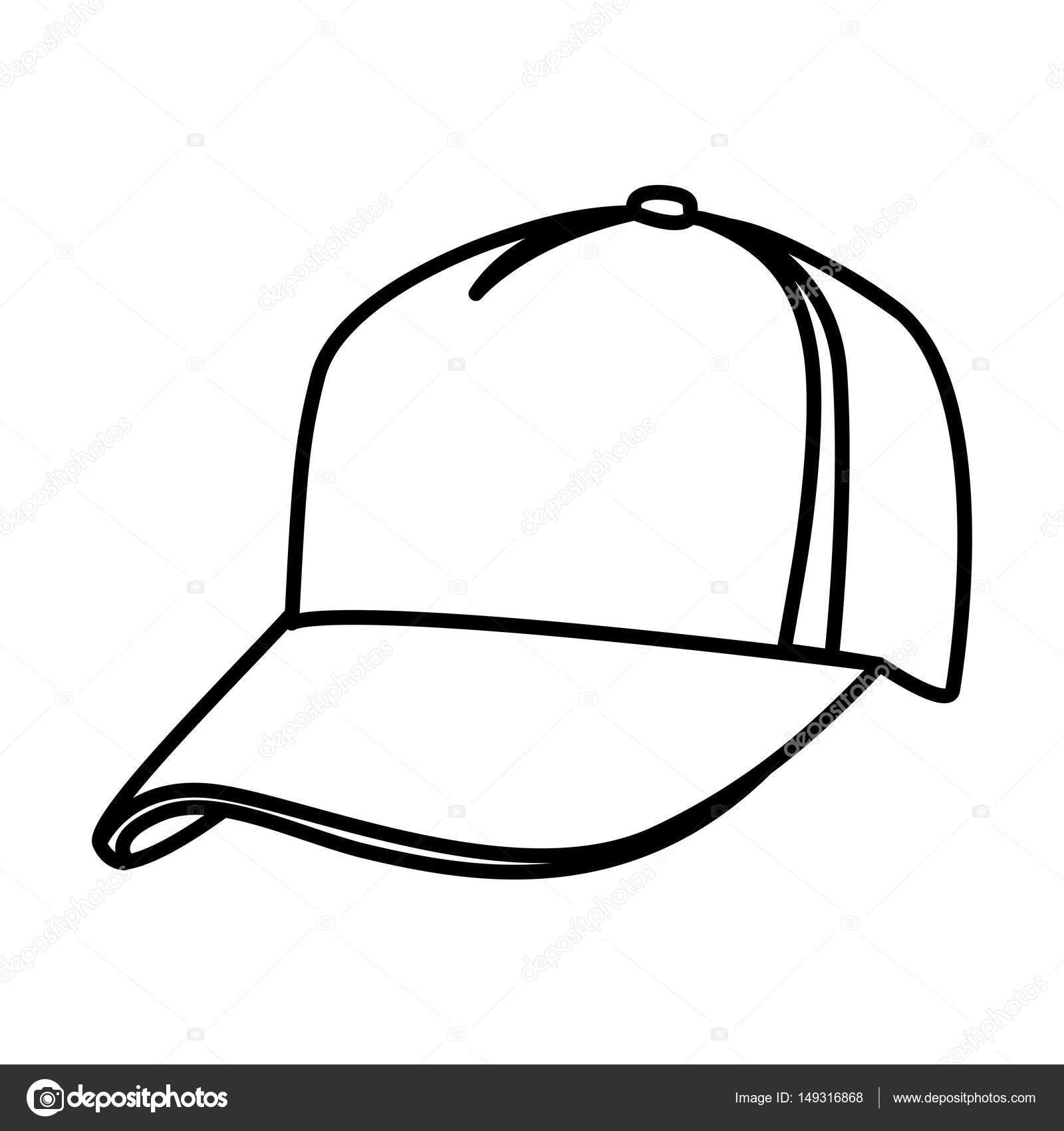 monochrome contour of baseball cap stock vector grgroupstock rh depositphotos com baseball cap vector template baseball cap vector free download