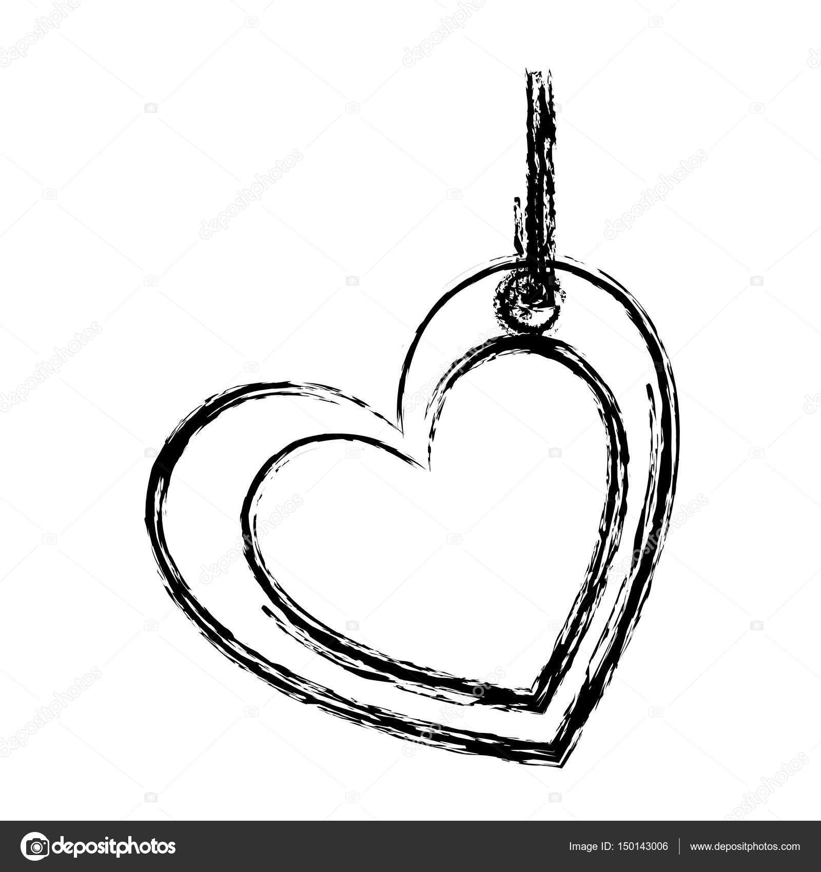 Fotos Siluetas De Amor Para Dibujar Dibujo Borrosa Silueta Doble