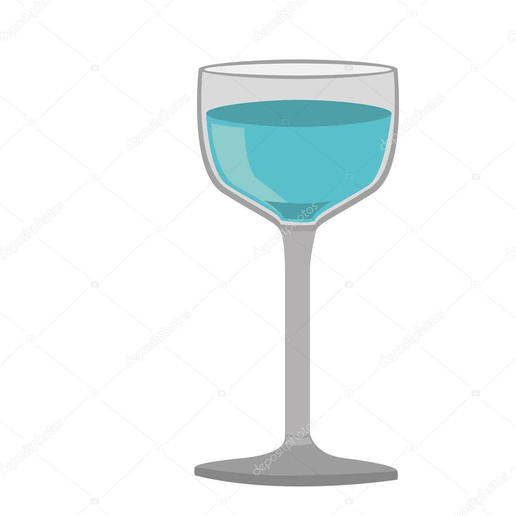 colorful silhouette of glass cup with water