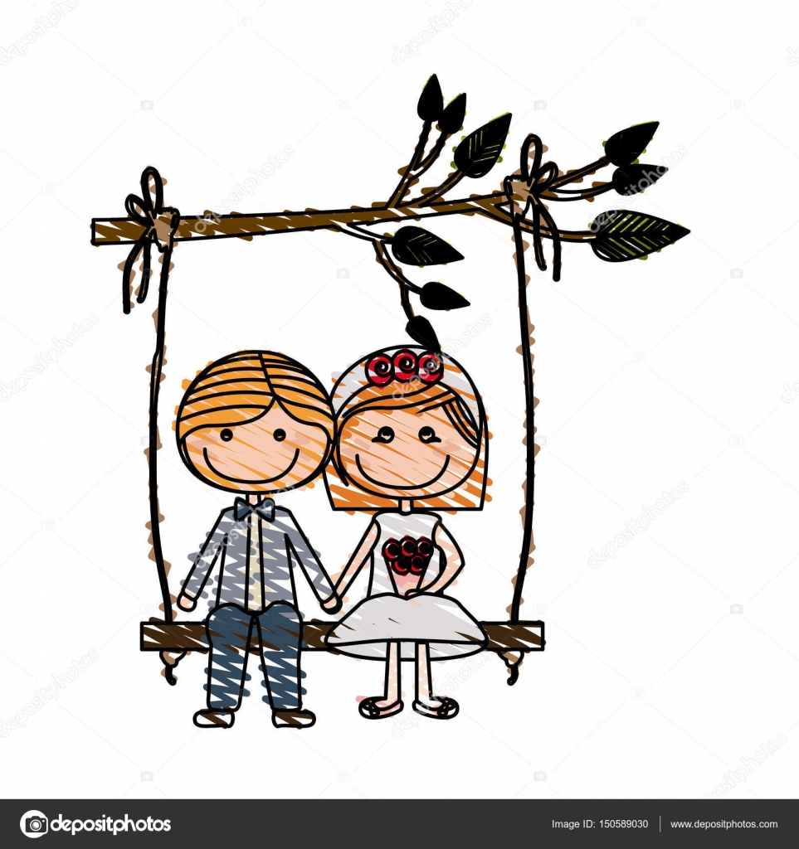 dessin de caricature couple mari amoureux s asseoir dans. Black Bedroom Furniture Sets. Home Design Ideas
