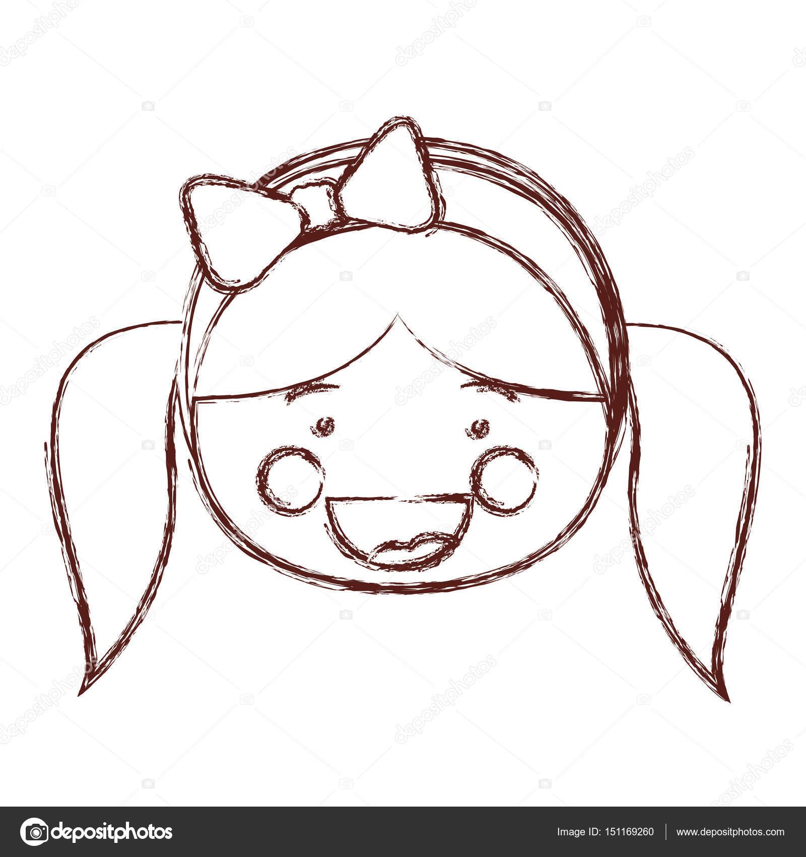 Muito turva contorno sombreamento sorriso expressão dos desenhos  PM92