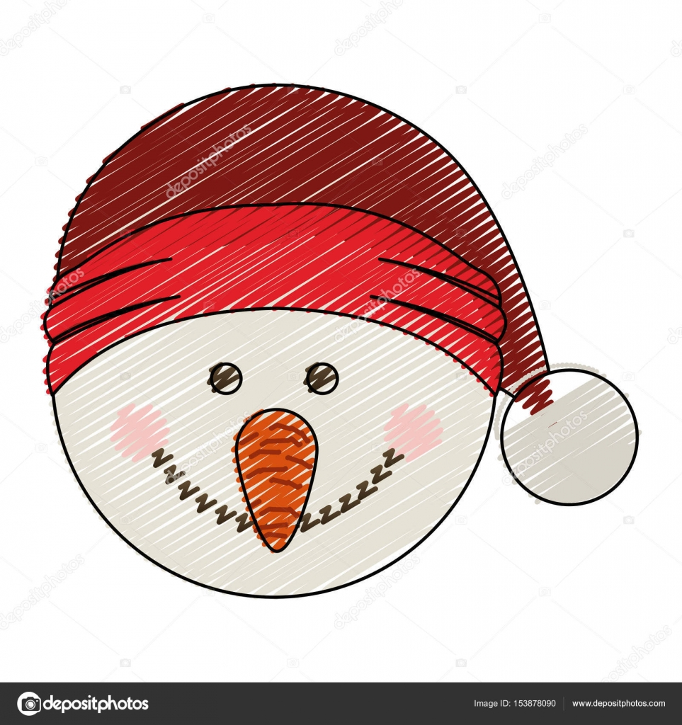 Renk Mum Boya şerit Karikatür Noel şapka Ile Kardan Adam Baş Stok