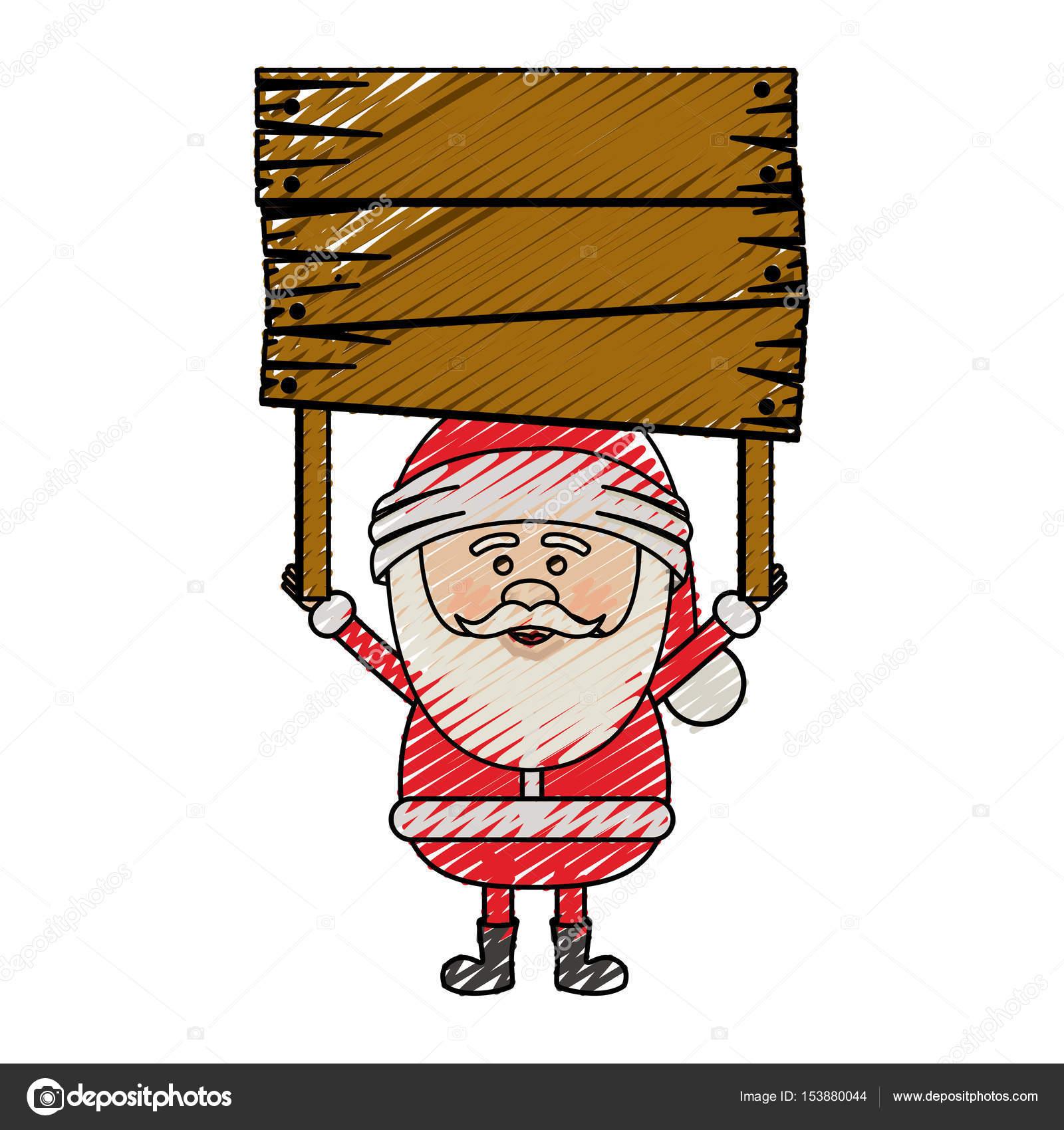 Colorie Bande Dessin Animé De Couleur Du Père Noël Avec La