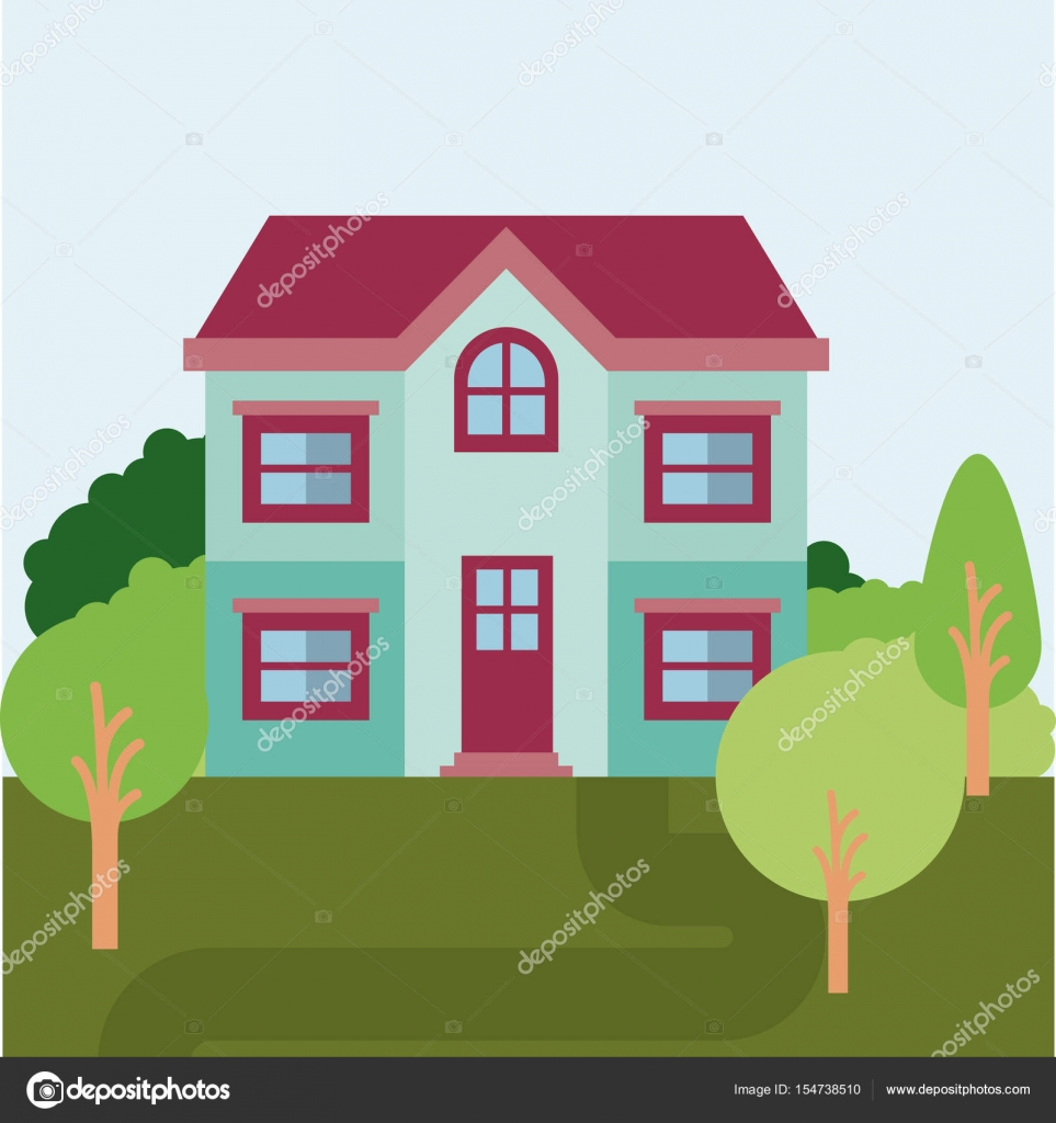 Pittoresco paesaggio naturale con casa di campagna di due for Piani casa colonica di campagna