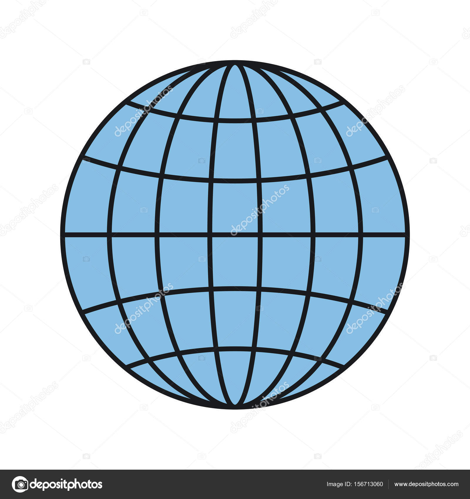 Colorful Silhouette Front View Globe Earth World Chart With Lines Vector  Illustration U2014 Vector By Grgroupstock