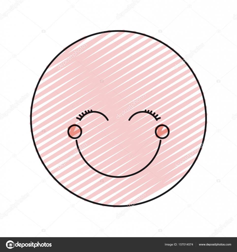 Renk Mum Boya Siluet Mutlu Yüz Kadın Ifade Gözleri Kapalı Stok