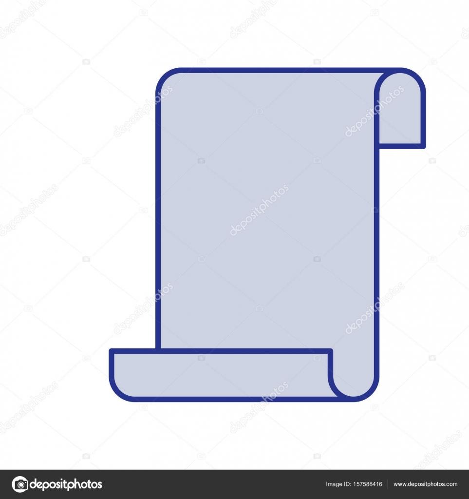 blaue Silhouette des kontinuierlich Blatt Blanko — Stockvektor ...