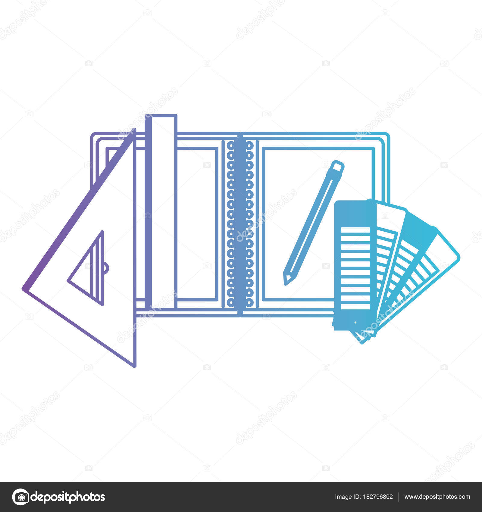 office drawing tools. Draw Notebook Ruler Pencil School Office Tool Vector Illustration \u2014 By Grgroupstock Drawing Tools
