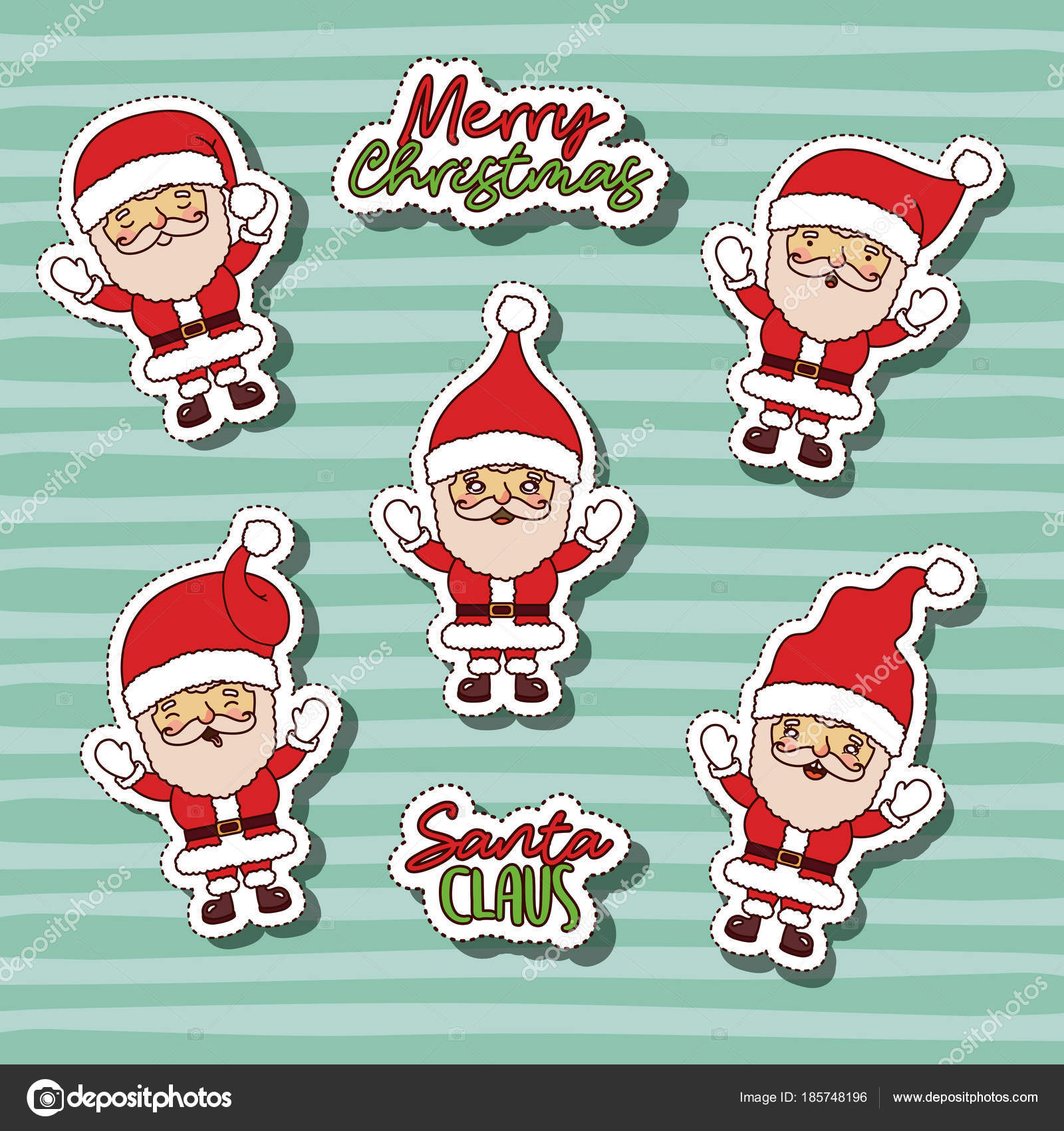 Adesivi Buon Natale.Buon Natale Con Il Reticolo Di Adesivi Di Babbo Natale E