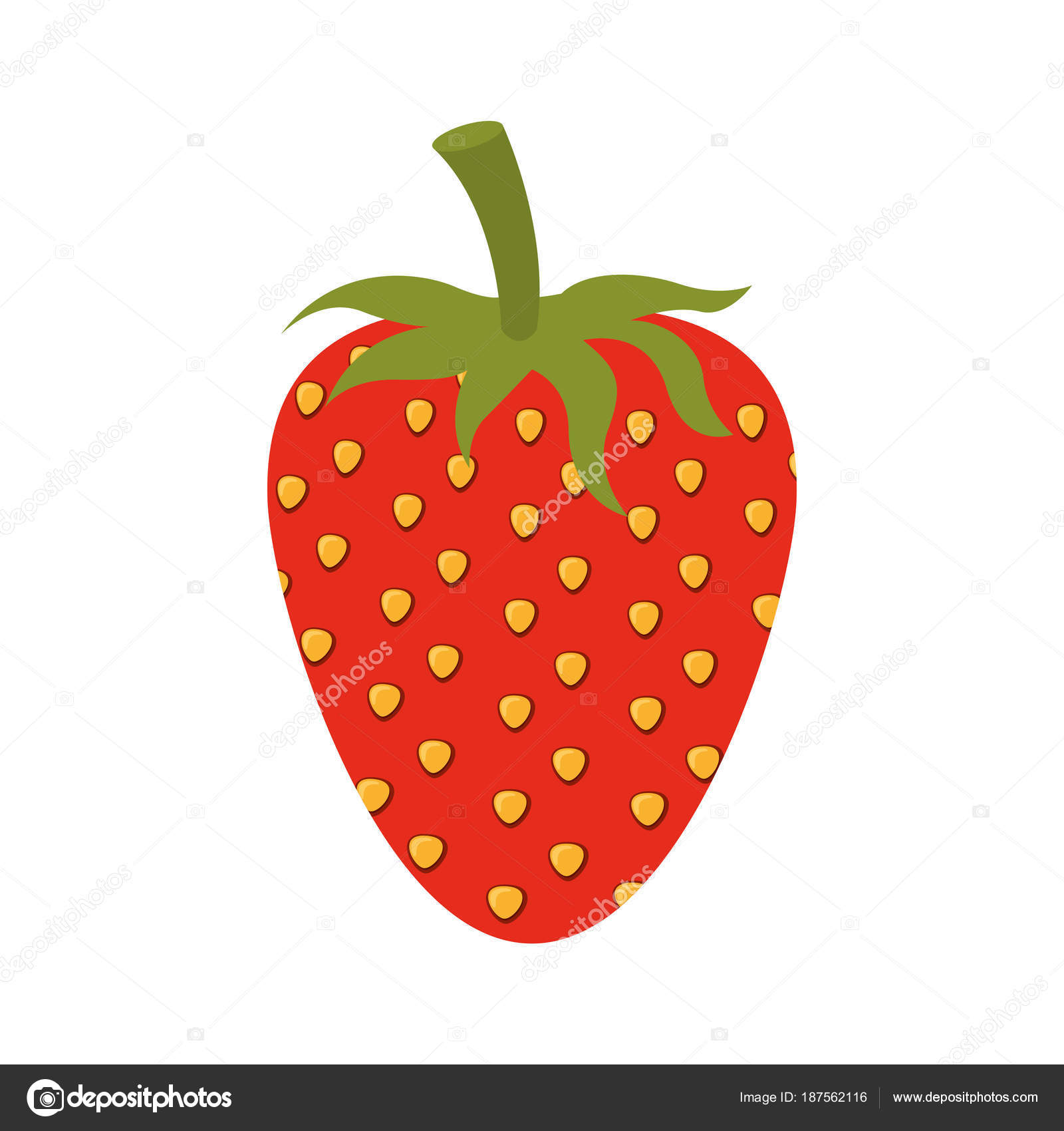 weißen Hintergrund von Erdbeere Frucht, Farbe — Stockvektor ...