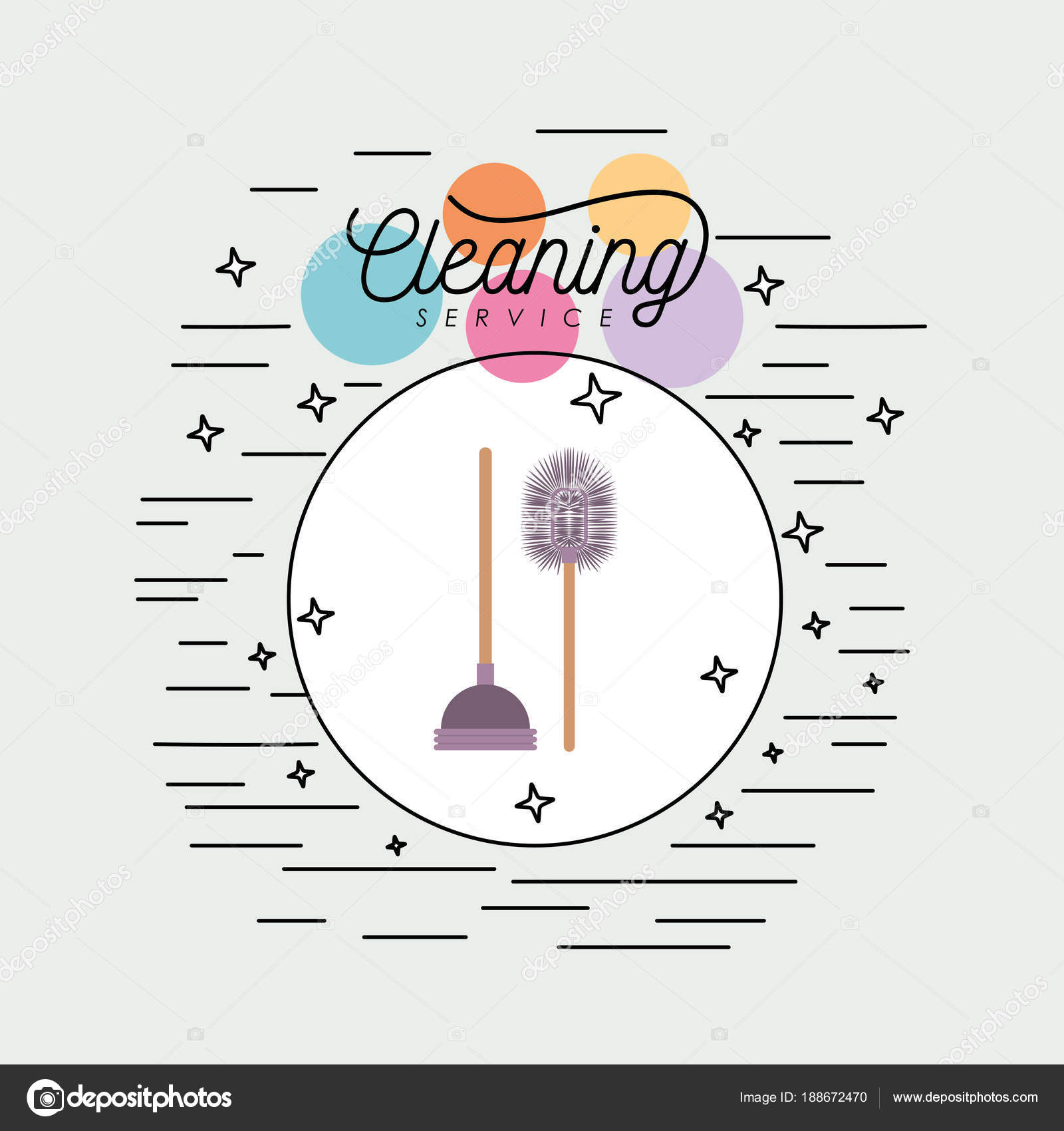 Bat Bathroom Pump   Bathroom Brush And Toilet Pump Cleaning Service Colorful Silhouette