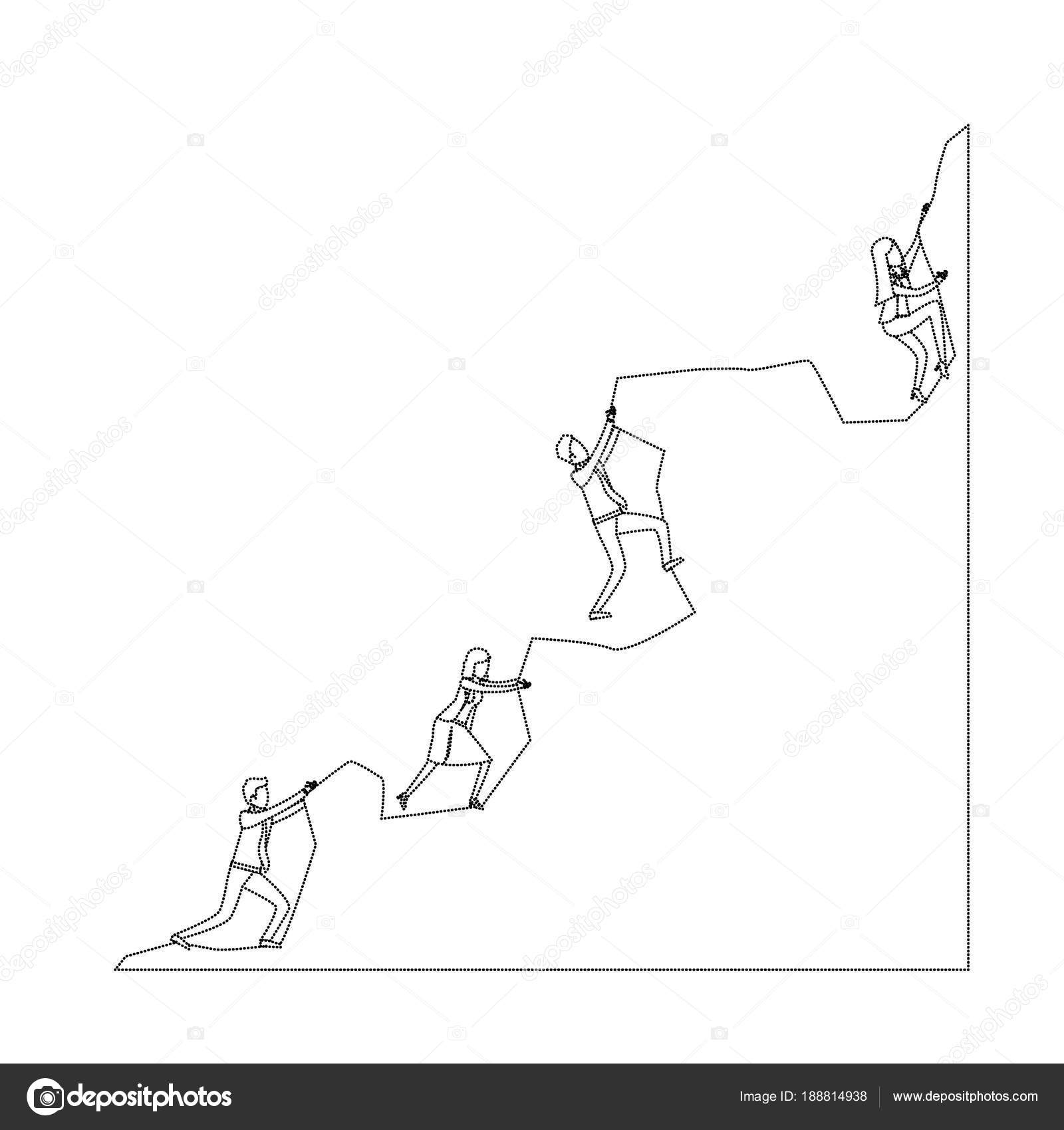 Imágenes Personas Escalando Montañas Para Colorear Grupo