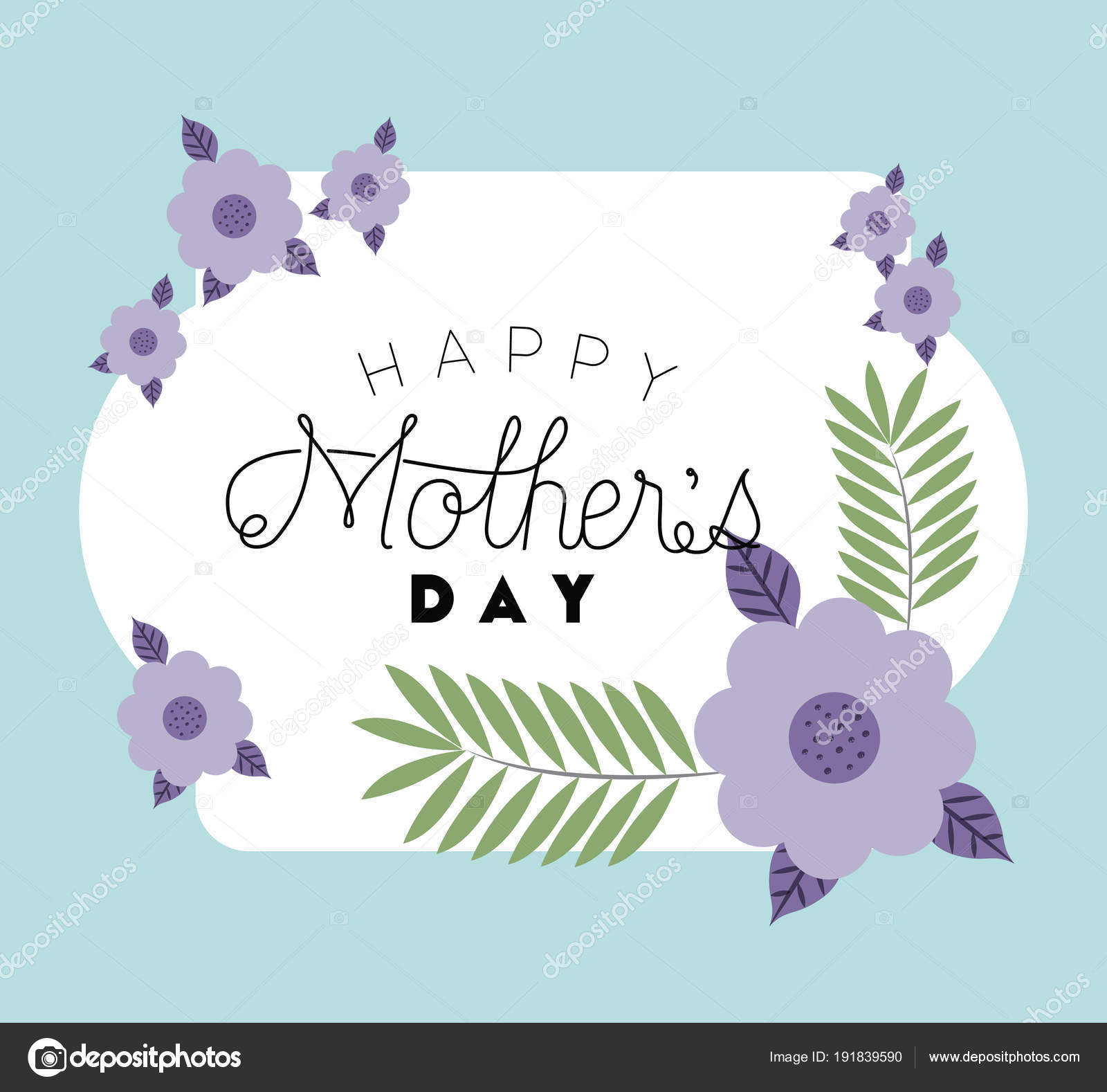 happy mothers day frame with flowers — Stock Vector © grgroupstock ...