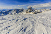 Photo Panoramic view of Matterhorn on a clear sunny winter day, Zermat