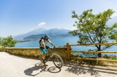 Photo Mountain biking on Lake Garda, Sentiero della Ponale, Riva del G
