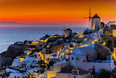Amazing view with white houses