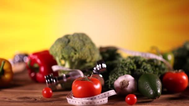Zdravá výživa, fitness koncept. Dolly zastřelil.