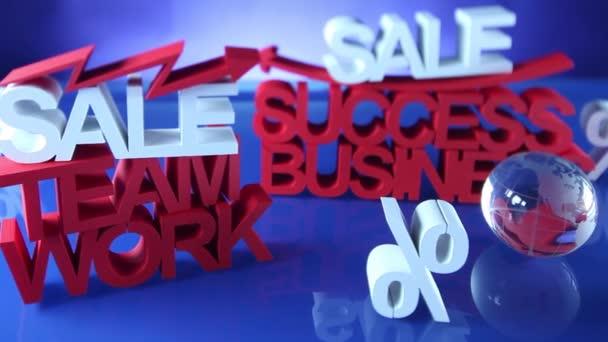 Business theme. Sale clip. Dolly shot.