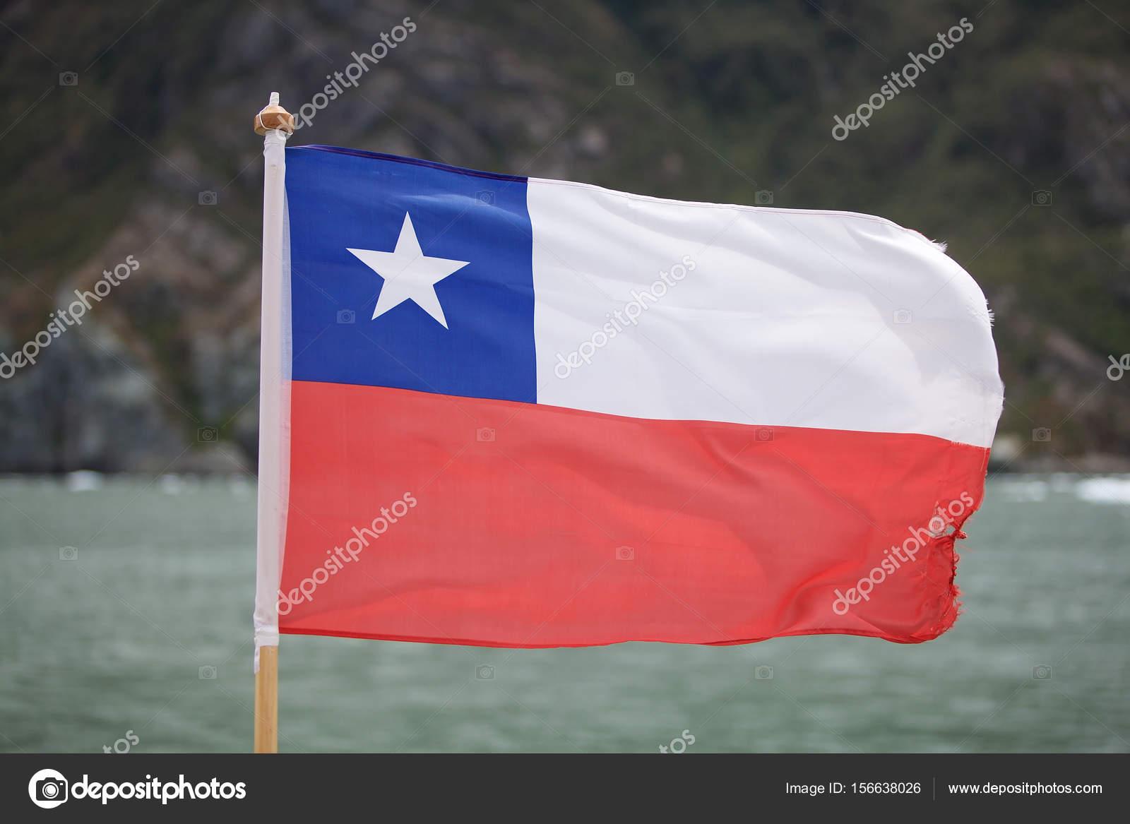 Bandera De Chile En La Patagonia Fotos De Stock Ajlber 156638026