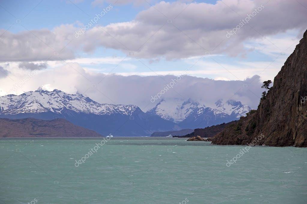 The Boca del Diablo in the Argentino Lake, Argentina