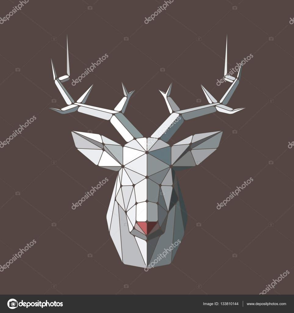 Mosaic deer head — Stock Vector © AlexandrB89 #133810144