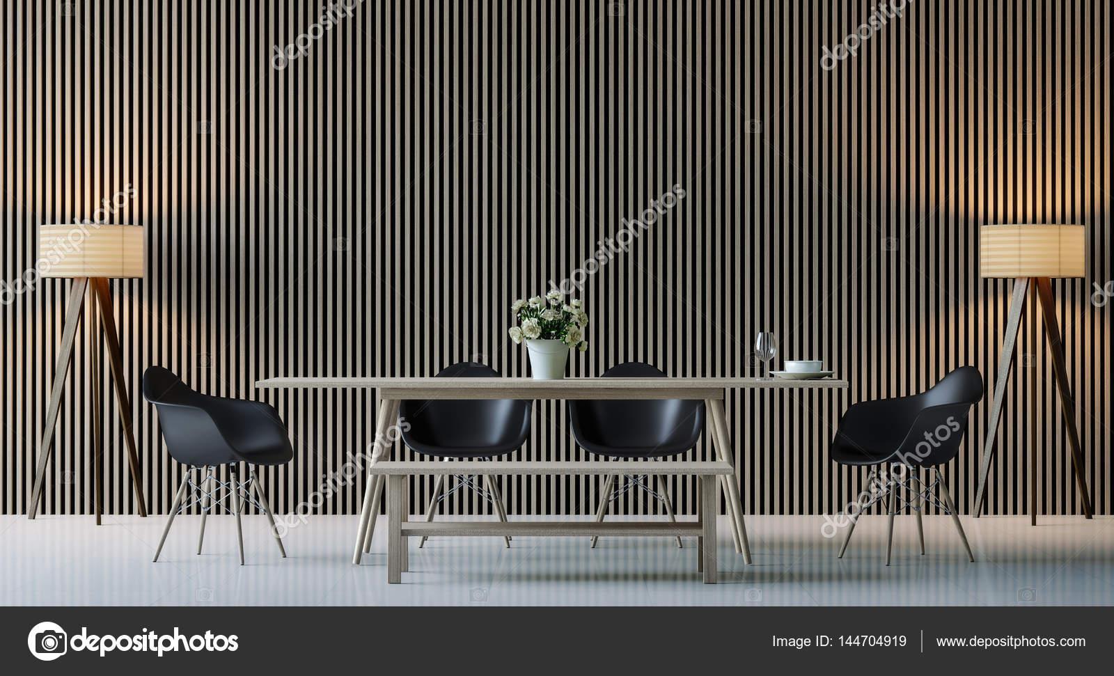 Moderne zeitgenössische Esszimmer interior 3d Render Bild ...