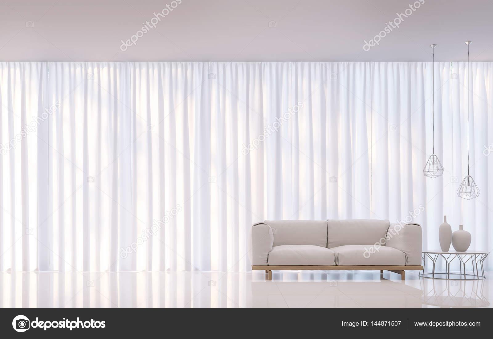 Moderne Witte Slaapkamer : Moderne witte slaapkamer minimalistische stijl d rendering