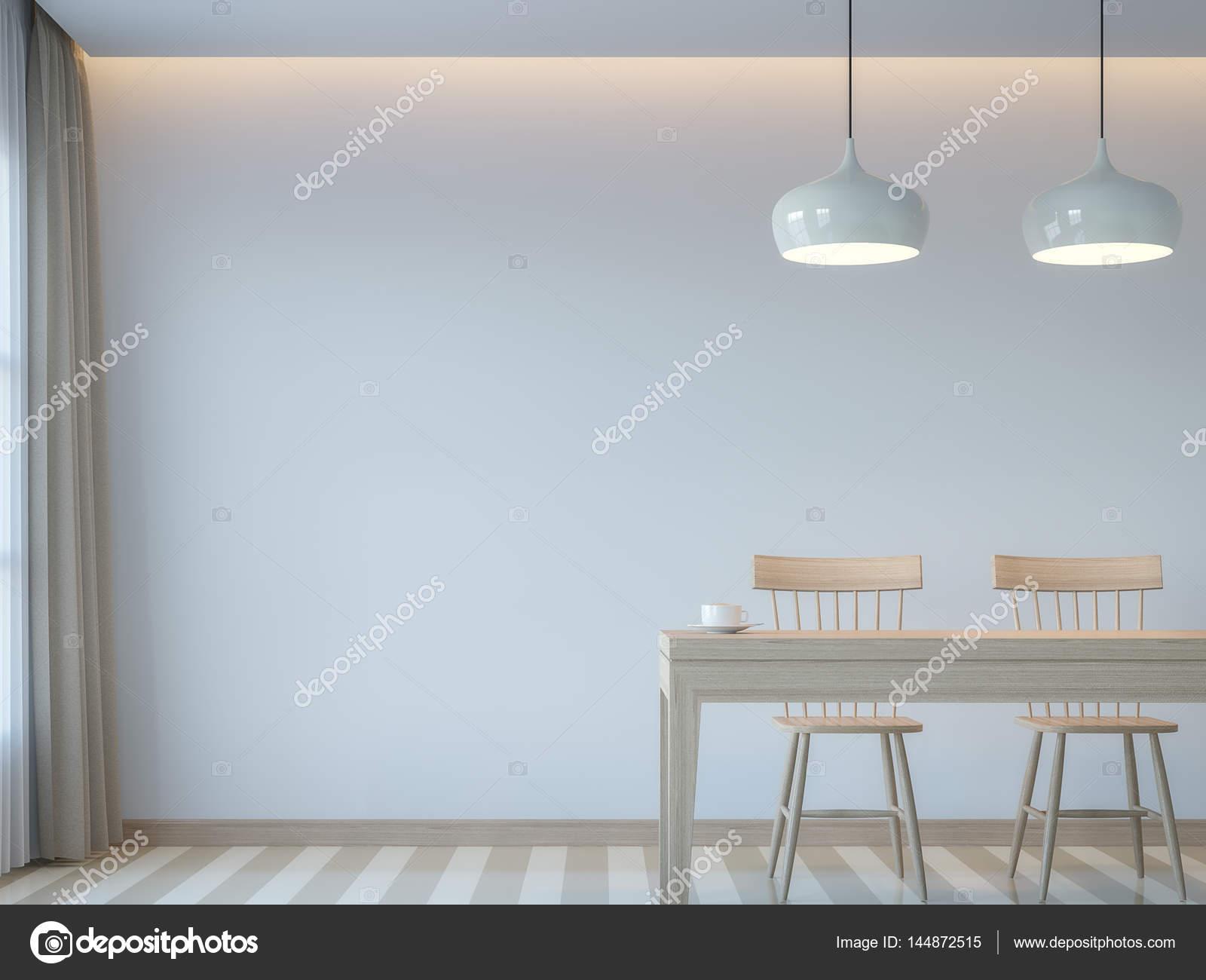 Comedor blanco moderno estilo minimalista render 3d imagen for Comedor estilo minimalista