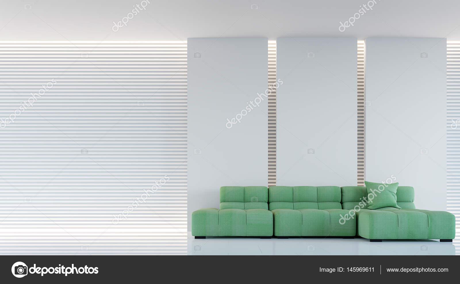 Moderne witte woonkamer interieur 3d rendering afbeelding ...