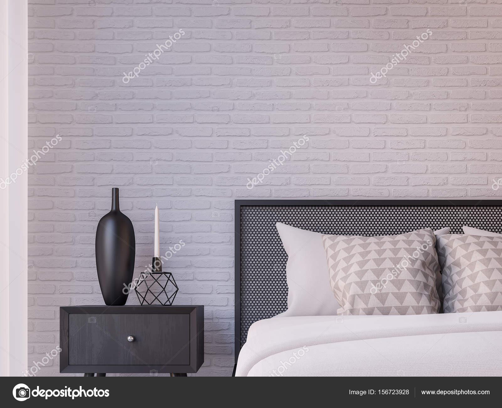 Image De Rendu 3d Loft Moderne Chambre A Coucher Photographie