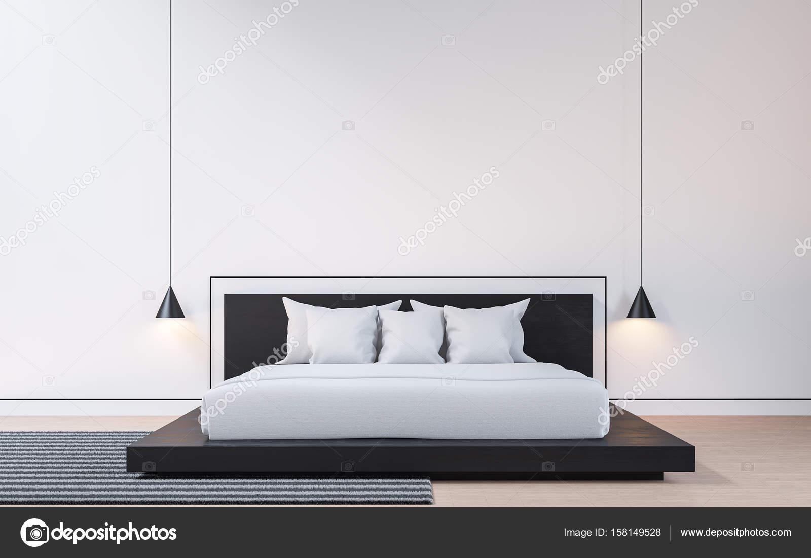 Camera Da Letto Bianco E Nero : Camera da letto moderna con rendering 3d immagine bianco e nero