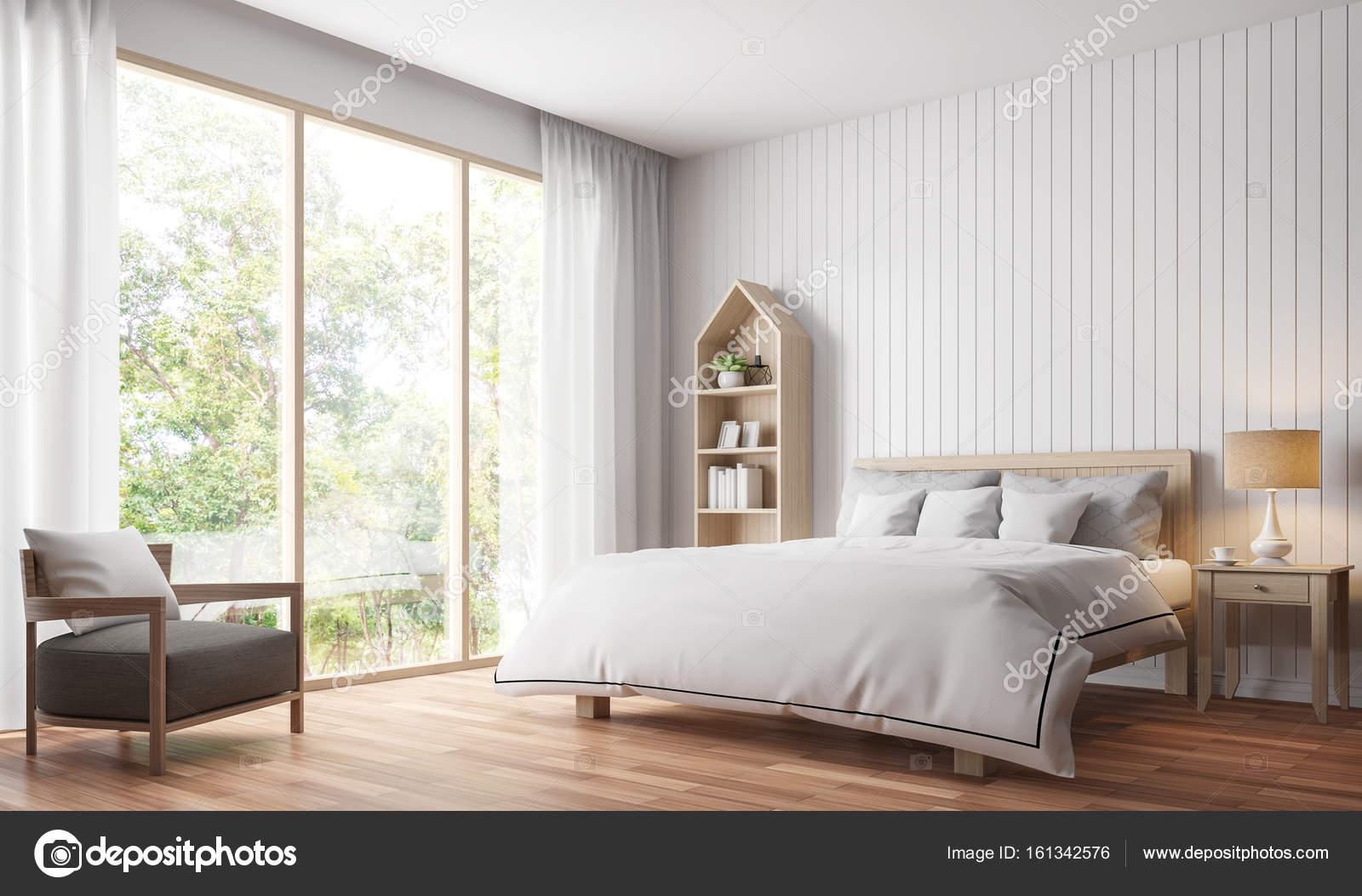 Chambre à coucher vintage moderne rendu 3d Image — Photographie ...