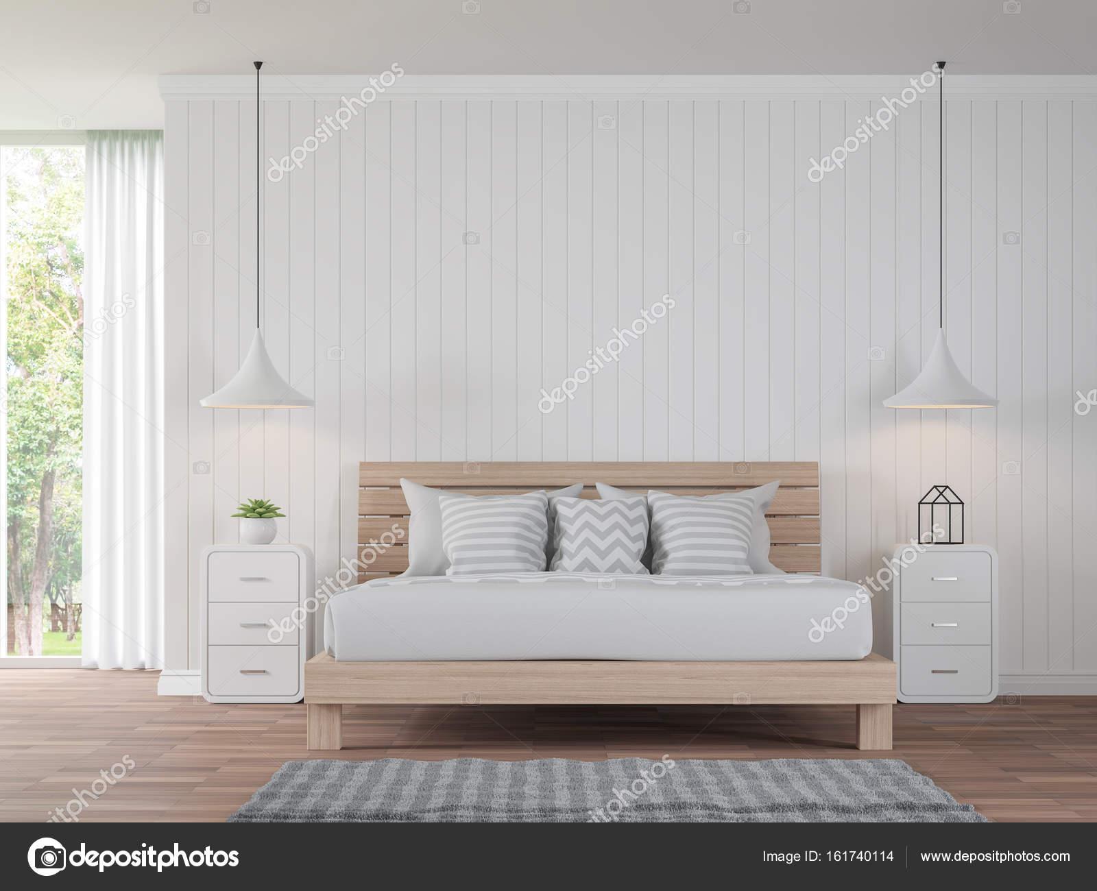 Camera Da Letto Vintage Moderno : Stile vintage bianco camera da letto moderna immagine di rendering