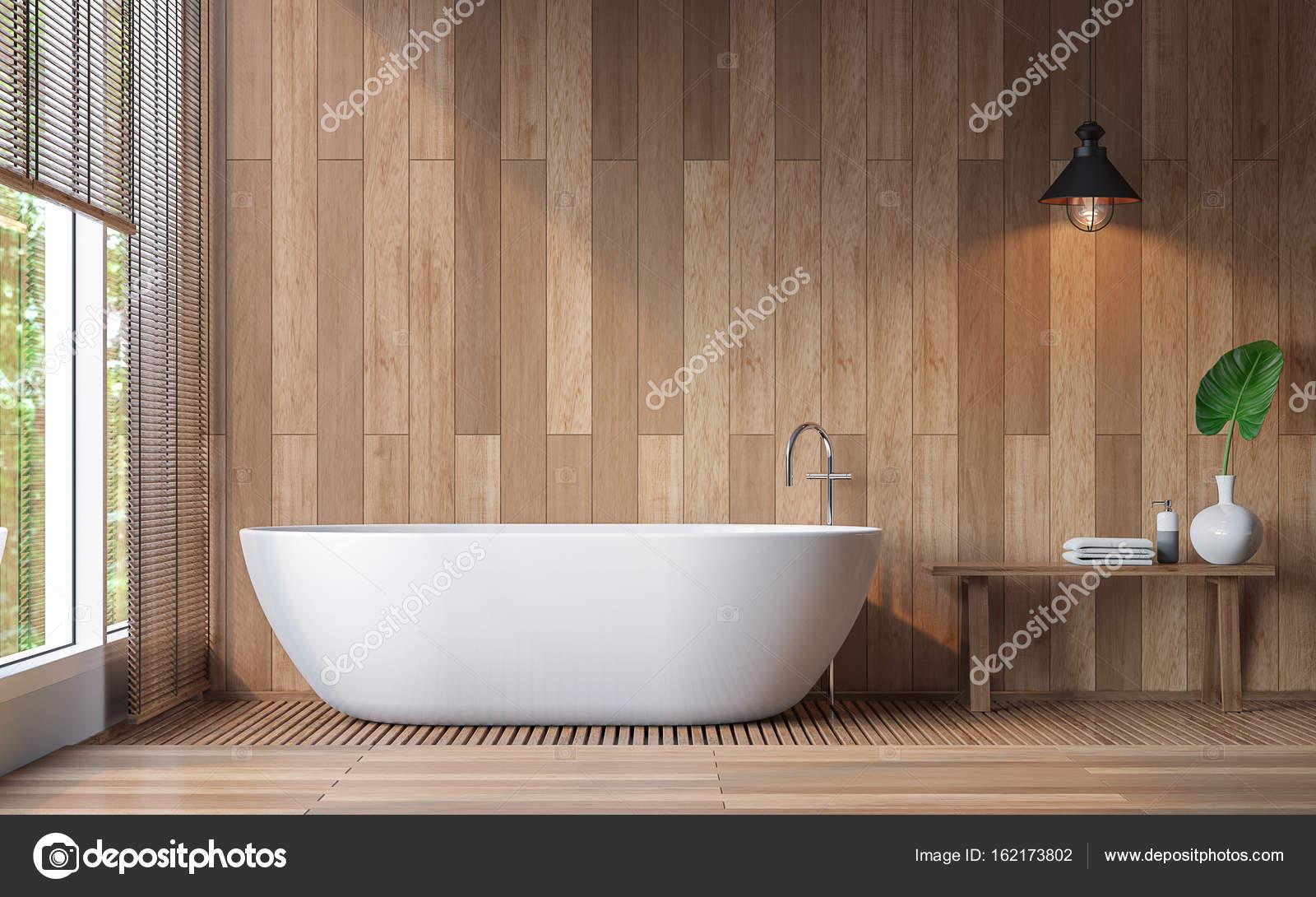Moderne zeitgenössische Badezimmer 3D-Bild rendern — Stockfoto ...