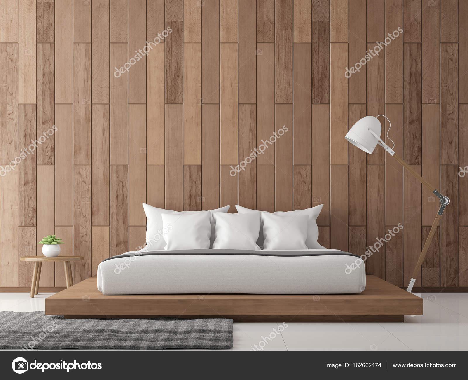 Moderne zeitgenössische Schlafzimmer interior 3d Render Bild ...