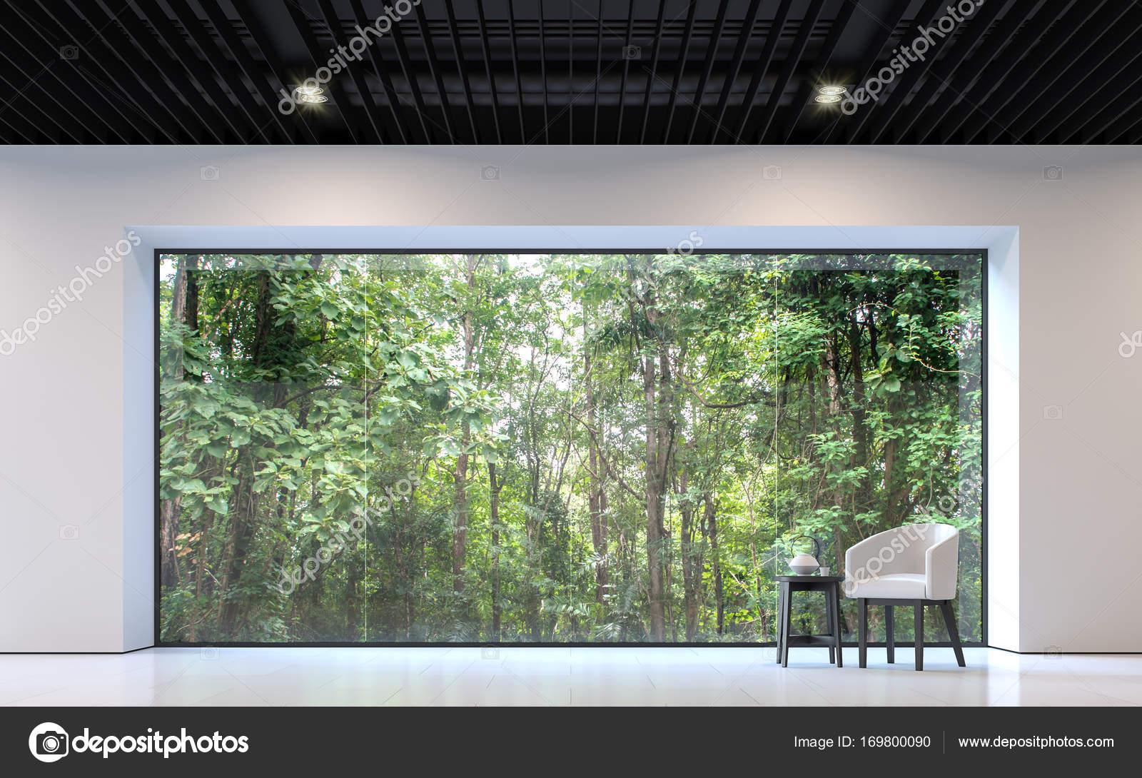 Wohnzimmer Mit Natur Blick U2014 Stockfoto