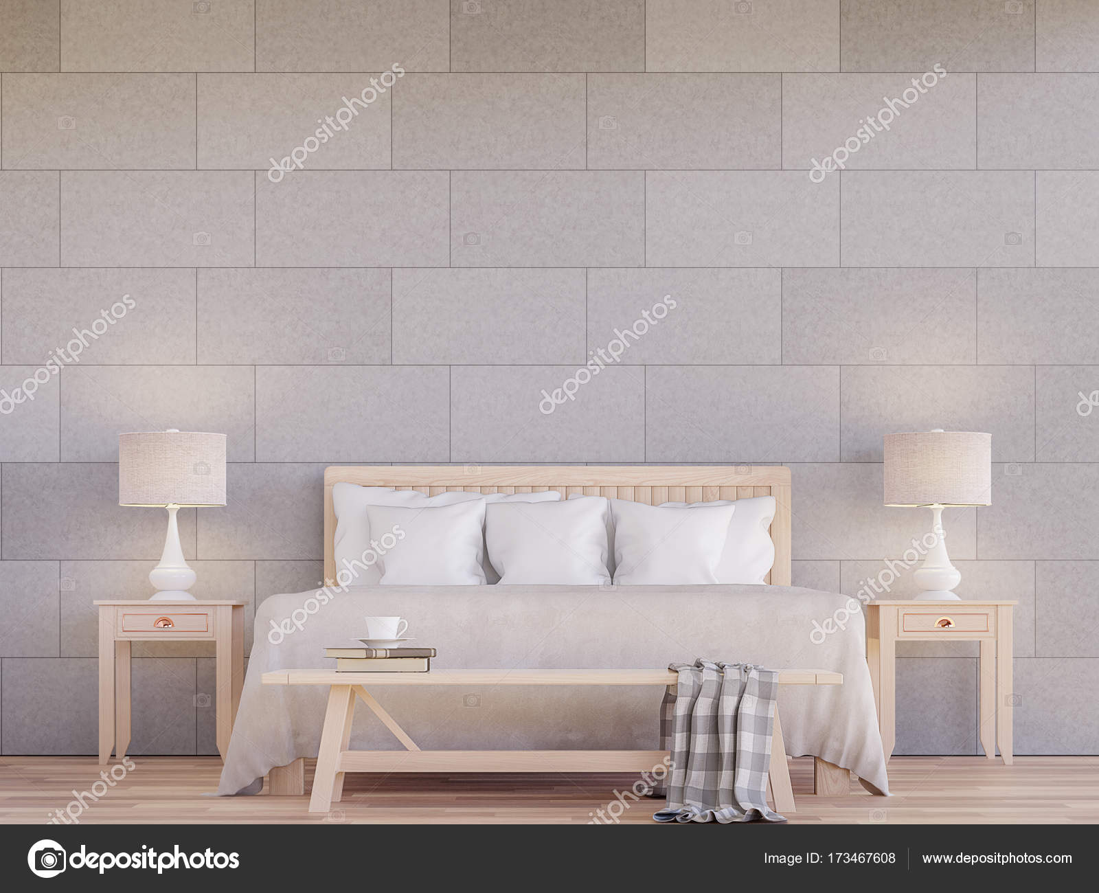 modern bedroom interior 3d rendering image stock photo