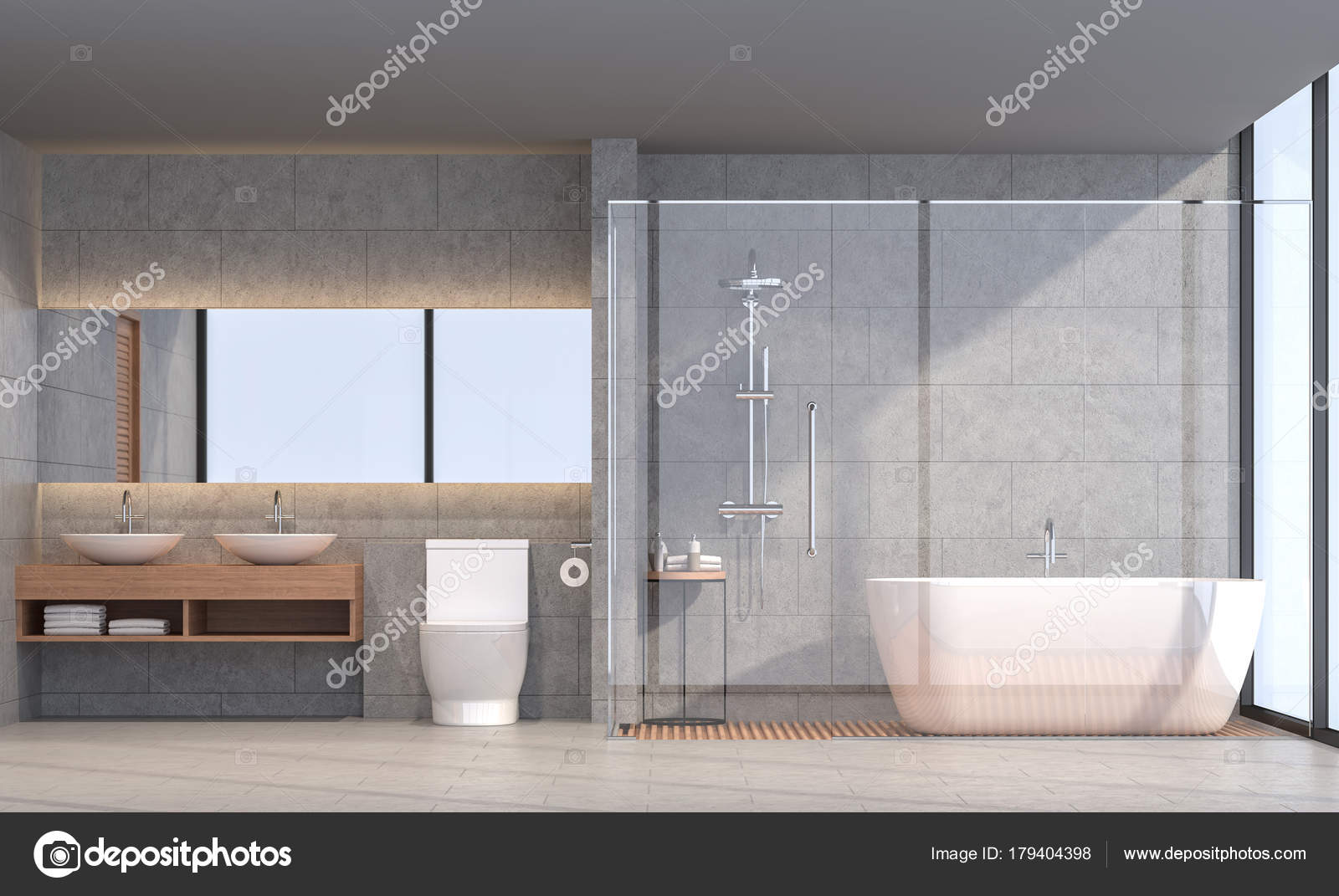 Immagine rendering loft moderno bagno sono pavimenti - Stock rivestimenti bagno ...