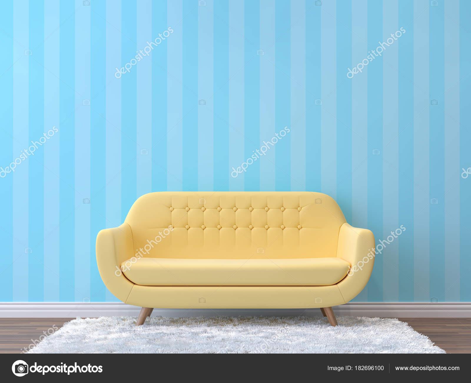 Kleurrijke woonkamer met pastel kleur rendering beeld zijn