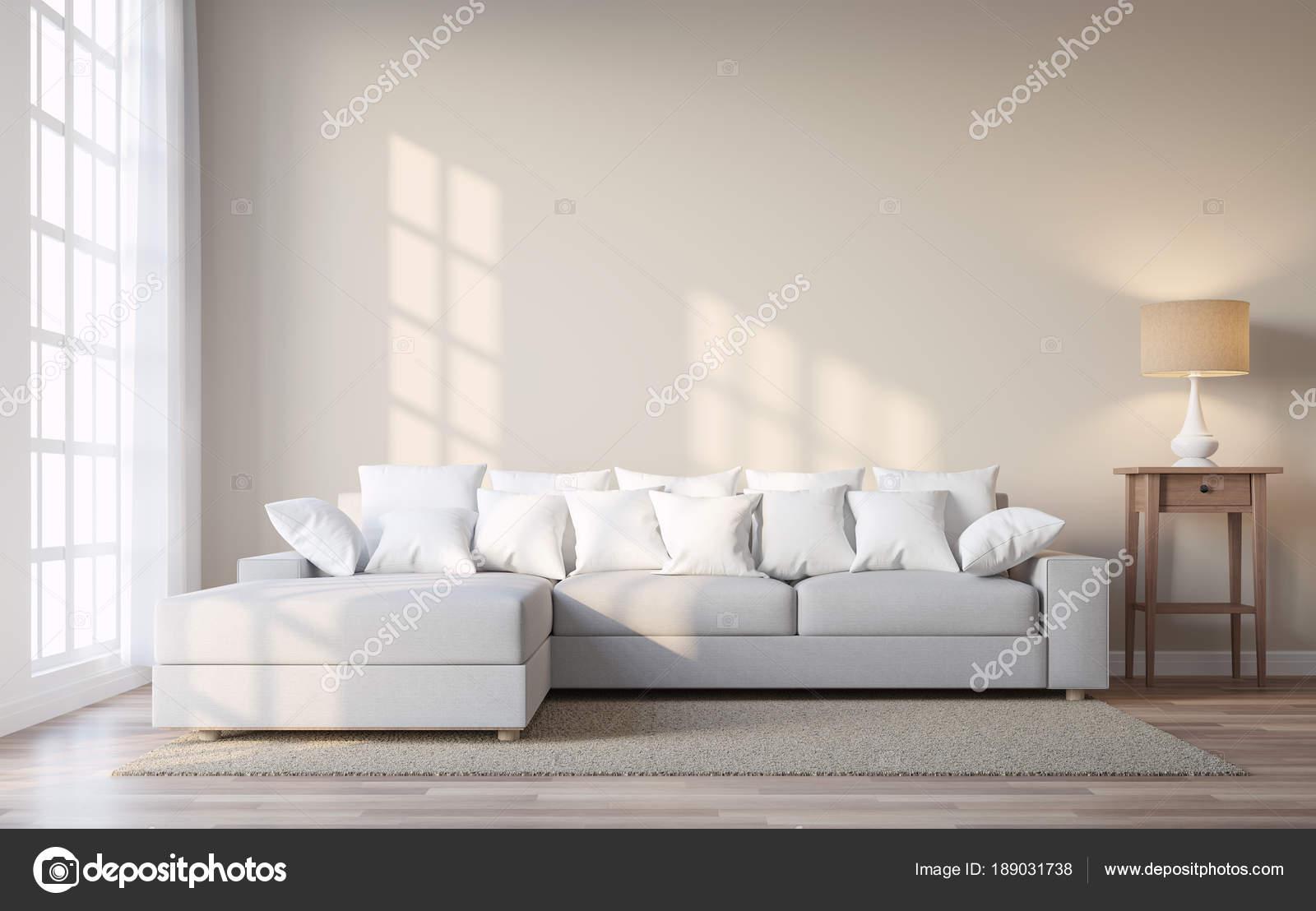Vintage stijl woonkamer met beige kleur muur render kamers for Vintage woonkamer