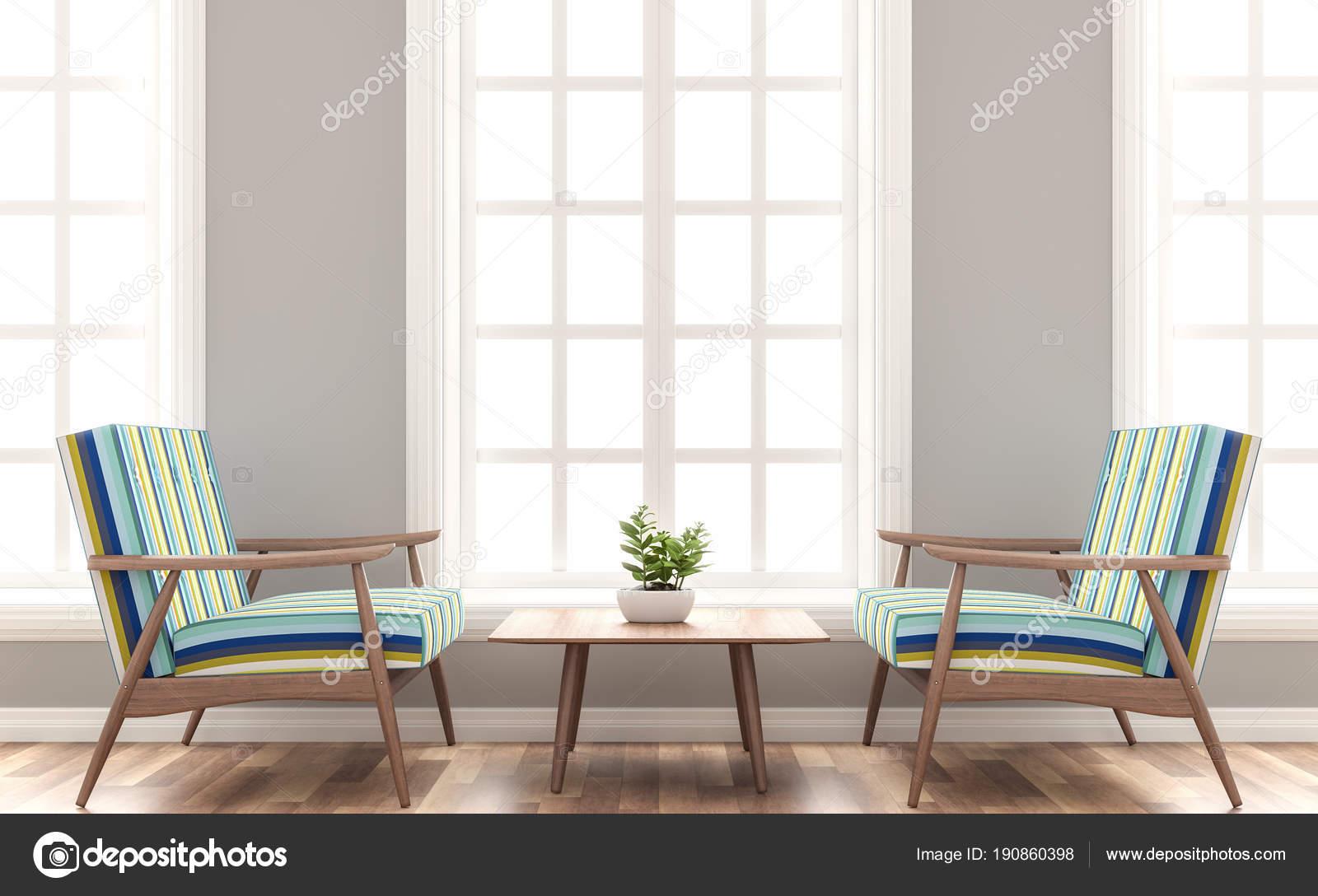 Koraalkleur De Woonkamer : Scandinavische huis woonkamer render kamers hebben houten vloeren