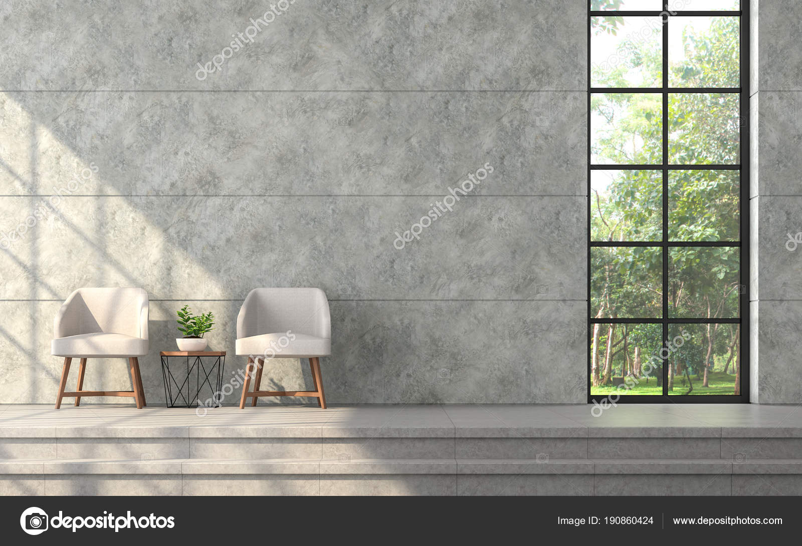 modern loft furniture. Modern Loft Style Living Room Render Polished Concrete Wall Groove \u2014 Stock Photo Furniture E