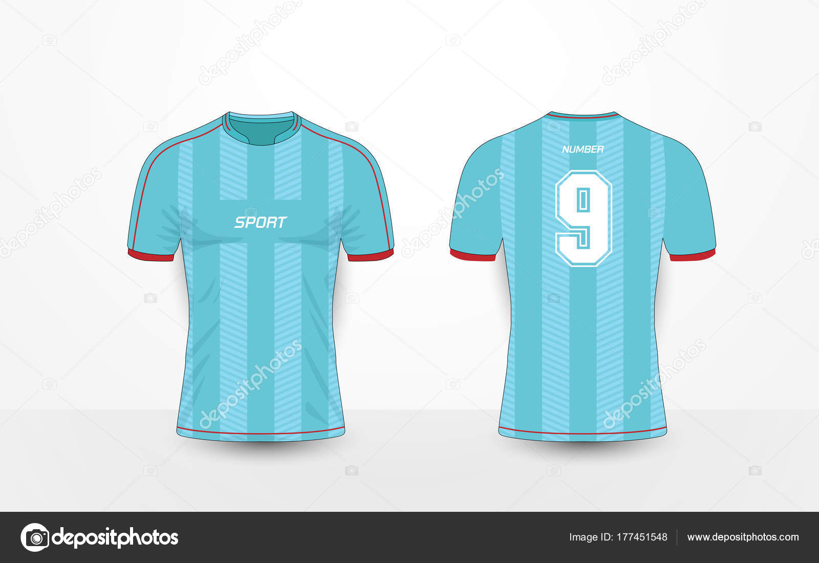 37451f6757be8 Blue stripe and red pattern sport football kits