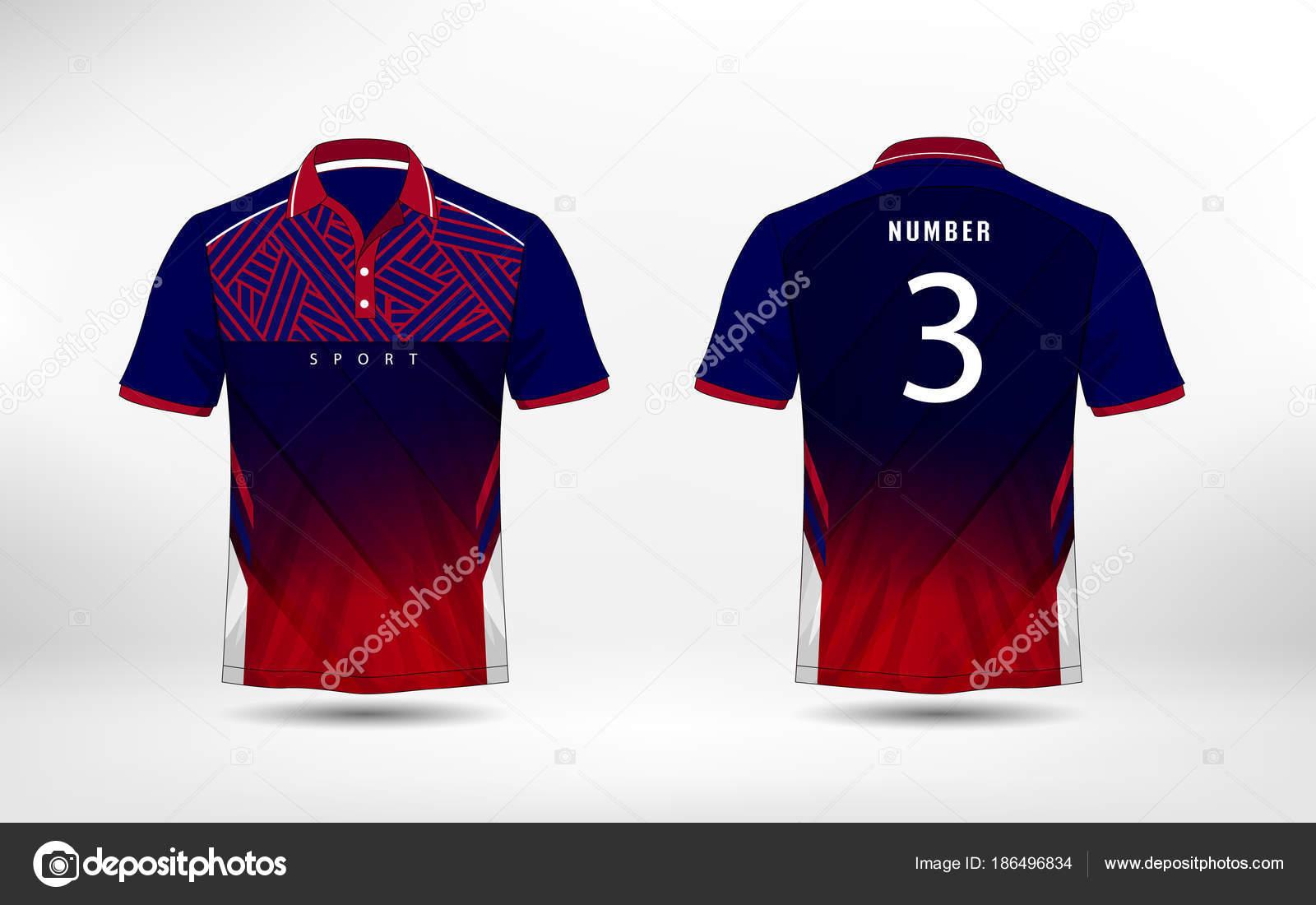Camiseta, equipos, jersey, plantilla de diseño de la camiseta del ...