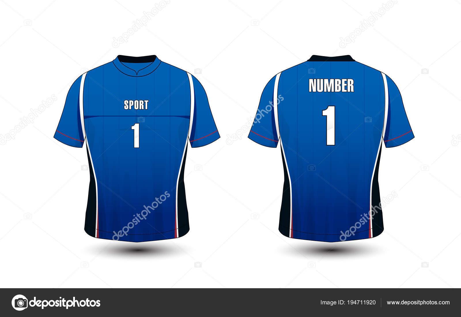 Blue And White Layout Sport T Shirt Kits Jersey Shirt Design